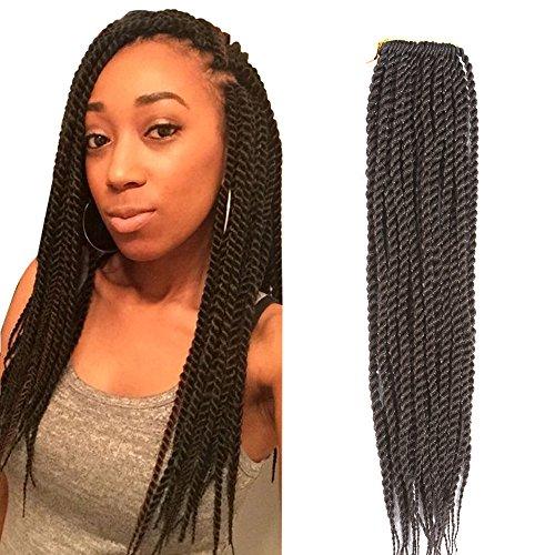 Befunny 8Packs 14' Senegalese Twist Crochet Hair Short Braids Small Twists Crochet Braiding Hair Senegalese Twists Hairstyles For Black Women 20strands/pack(14', 4#)