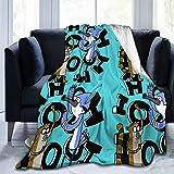 WalterTi Ooooohh!!! Mordecai & Rigby Regular Show Boutique Blankets Soft Comfortable Plush Microfiber Flannel Blanket 60'X50'Inch