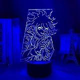 3D Night Lights for Kids Boys Girls Illusion Led Night Light Nagito Komaeda Lamp for Bedroom Decor Kids Gift Acrylic Neon Lamp 7 Colors Nightlight Touch Lamp Fenght HOICHAN