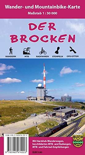 Der Brocken: Wander- und Mountainbike-Karte