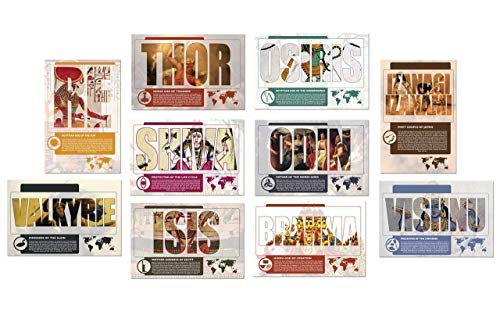 World Mythology Ten Piece Poster Set for the Classroom. Available for Home, Office, or School.