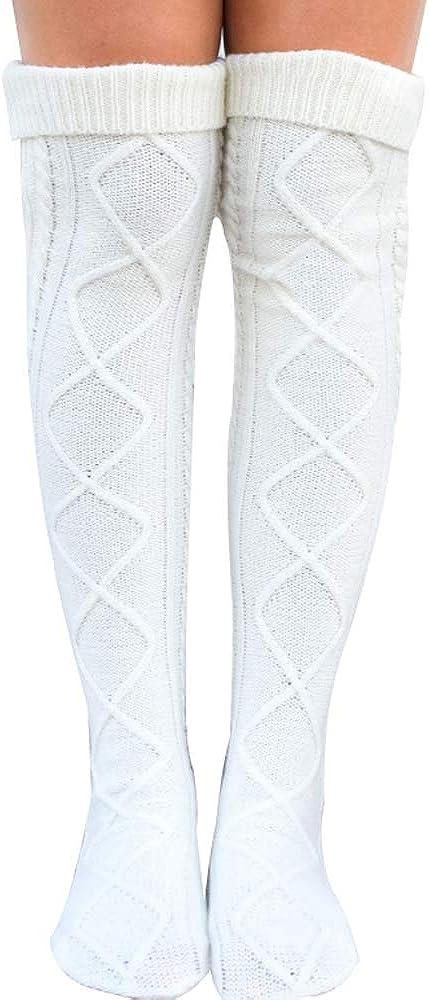 Womens Knitted Over the Knee Socks High Socks Thigh Stocking Leg Warmers