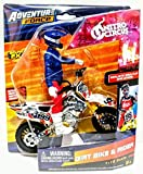 Adventure Force - Dirt Bike & Rider - Collect Them All to Complete Nitro Circus: Styles May Vary!!! (White Bike)