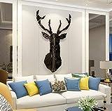 Pegatinas de Pared 3D Venado Sika DIY Familia Murales Stickers Ciervo Decoración para Salón, Dormitorio, Oficina, Habitación