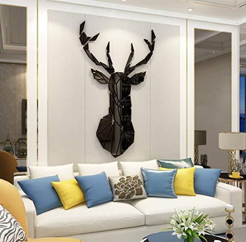 Pegatinas de Pared 3D Venado Sika DIY Familia Murales Stickers Ciervo Decoración para Salón, Dormitorio, Oficina,...