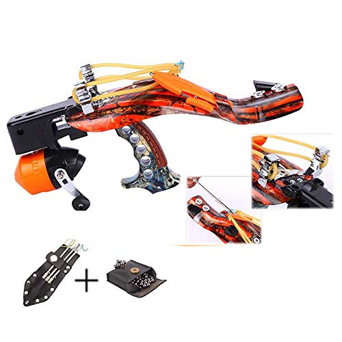 Blue-Ra Fishing Hunting High Velocity Slingshot Catapult Kit with Infrared Sight&Fishing Reel Magnetic Ammo Pouch and Arrow Pouch (with Ammo and Arrow Pouch)