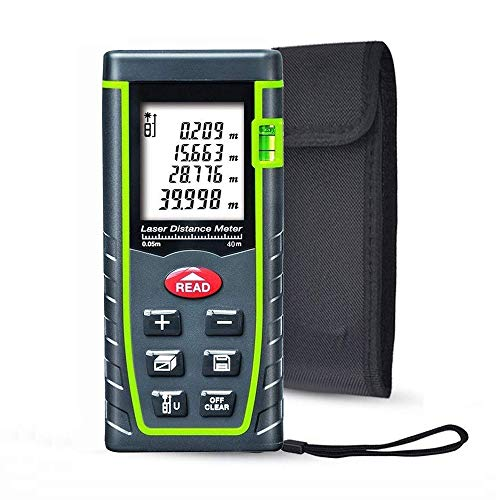 Laser Distance Measure, ieGeek 131ft Handheld M/In/Ft Laser Distance...