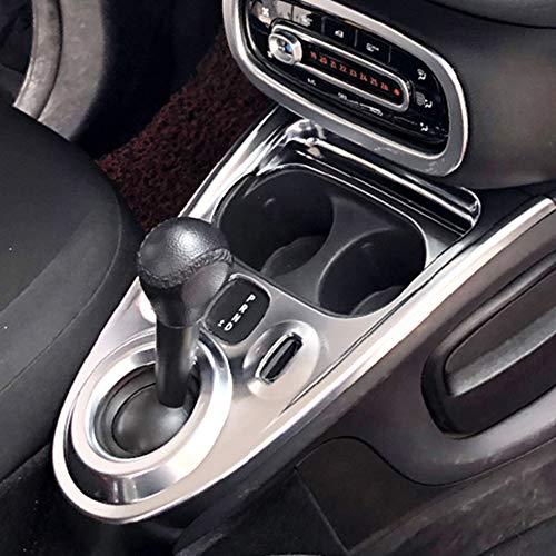 DENGD Cubierta del Panel de Cambio de Marchas, Pegatina de decoración Interior para Mercedes Smart 453 Fortwo Forfour, Accesorios de modificación de Estilo de Coche