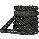 FREEWISE Battle Rope 1.0 Inch Heavy jump Battle Exercise Training Rope 9.8ft,10.5ft Length Workout...