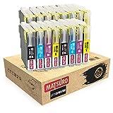 Matsuro Original | Compatible Cartuchos de Tinta Reemplazo para Brother LC1100 LC985 (4 Sets)
