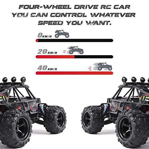 RC Auto kaufen Crawler Bild 3: Maxxrace RC Autos Elektrisches Ferngesteuertes Spielzeugs, Remote Control Crawler Autos mit 4WD, 40Km/h, 2.4G, LED Geländewagen Geschenk für die Kinder / Jugendlichen High-Speed Fahrzeuge*