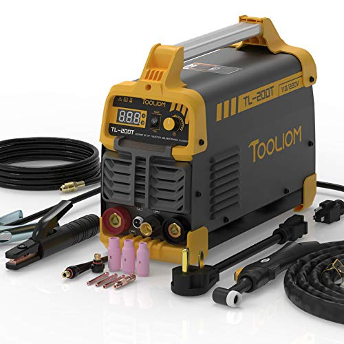 TOOLIOM 200A TIG Welder 110V/220V Dual Voltage TIG/Stick 2 in 1 IGBT Digital Inverter Welder Welding Machine
