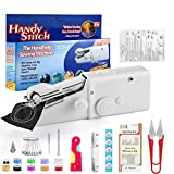 Stywvoe Portable Sewing Machine, Mini Sewing Professional Cordless Sewing Handheld Electric Household Tool - Quick Stitch Tool for Fabric, Clothing, or Kids Cloth Home Travel Use-white113