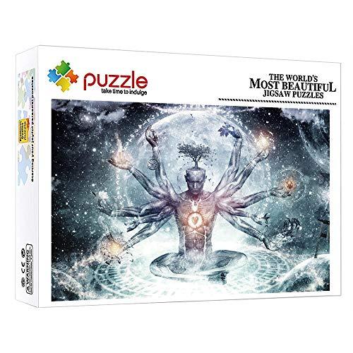 GFSJJ Puzles 1000 Piezas Puzzle Grandes Adultos para Infantiles Niño Adultos Adolescentes Juegos Educativos Entretenimiento Fantasía De Personaje Bicho Raro Gigante (52 X 38 Cm)