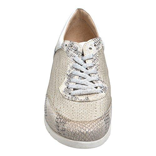 Mjus Damen Sneaker Force Farbe lino Iceberg Bianco (36)