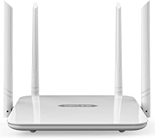 WAVLINK AC1200 Dual Band WiFi Router,1200Mbps High Speed Long Range 300 Mbps (2.4GHz)+867 Mbps (5GHz), Wi-Fi Amplifiers fo...