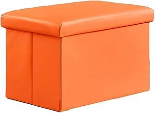 FSYGZJ Cube Faux Cuir Ottoman Tabouret De Pied De Rangement Pouf Banquette, Pliable Jouet Organisateur Boîte Pouf Chest Se...