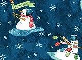 Fat Quarter Warm Weihnachten Schneemann wünscht,