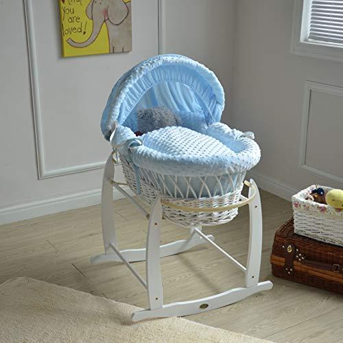 Mcc® Moisés cesta para Bebé recién nacido cesta de mimbre blanca con...