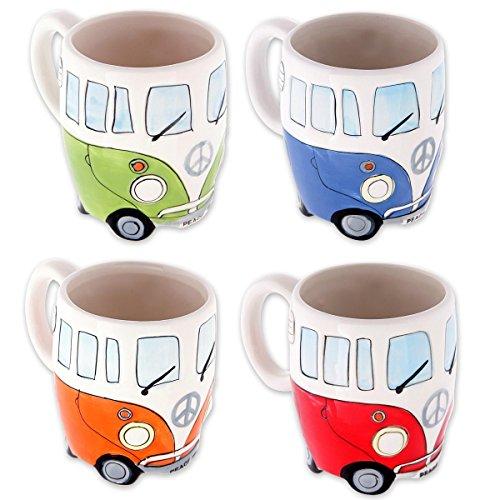 Camper Bus Tassen / 4er Set Wohnmobil Tassen handbemalt