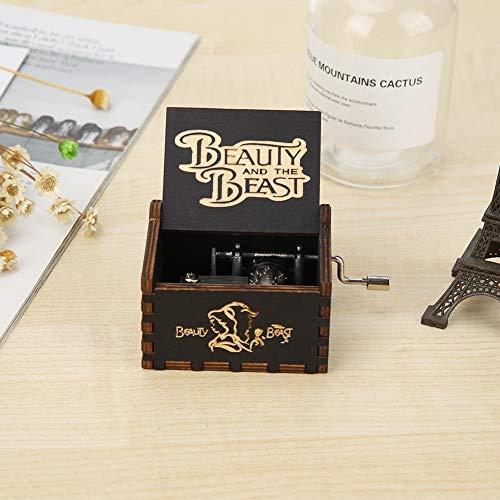 Zoe home Vintage houten muziekdoos antieke hand Crank uurwerk