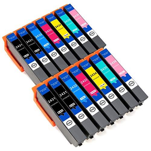 ESMOnline komp. XL Druckerpatronen (6 Farben) als Ersatz zu Epson T 24xx für Epson Expression Photo XP 960 950 860 850 760 760 55 (T24xx) (14er Set)