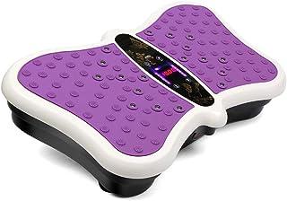 JIANGJIE Fitness Vibration Platform Wholebody Massager Máquina de vibración de Cuerpo Entero Crazy Fit Placa de vibración con Control Remoto y Bandas de Resistencia Púrpura