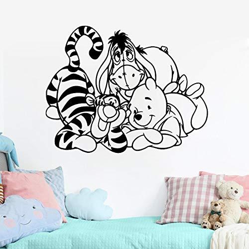 zhuziji Bande Dessin/ée lourson Sticker Winnie Sticker Mural pour Enfants Chambres Babys Decal Enfants Chambre denfant Chambre D/écor Vinyle Animal /Être 42x45 cm