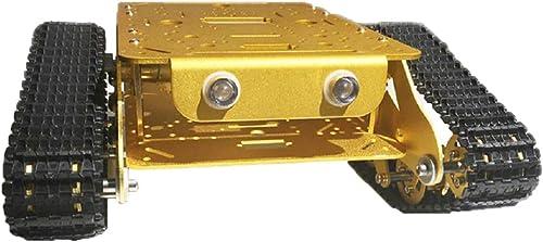 perfk TSD300 RC WiFi Smart Roboter Car Tank Plattform Panzer Chassis Panzerwagen mit Motor für Arduino Raspberry - Golden