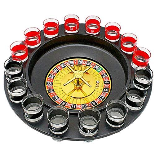 Formulaone 16-Loch Russisches Roulette Rad Musik Weinglas Spiel Ktv Roulette Spiel Praktisches Weinglas Plattenspieler-Schwarz & Rot