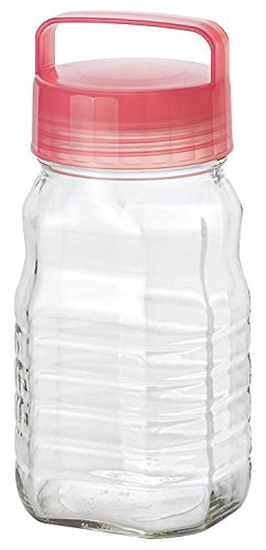 心からむしろ良さアデリア 保存びん 梅酒 果実酒びん 冷蔵庫収納 ピンク 1.2L CCコンテナー 日本製 808