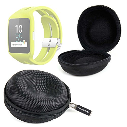 DURAGADGET Funda Negra para Reloj Sony Smartwatch 3 Sport | Garmin Forerunner 230 Guardar Su Dispositivo!