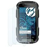Bruni Schutzfolie kompatibel mit Simvalley-Mobile SPT-900 Folie, glasklare Bildschirmschutzfolie (2X)