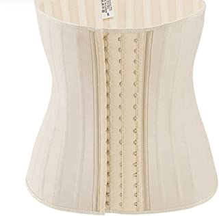 DEBRICKS Womens Latex Underbust Waist Training Steel Boned Shapewear Corset
