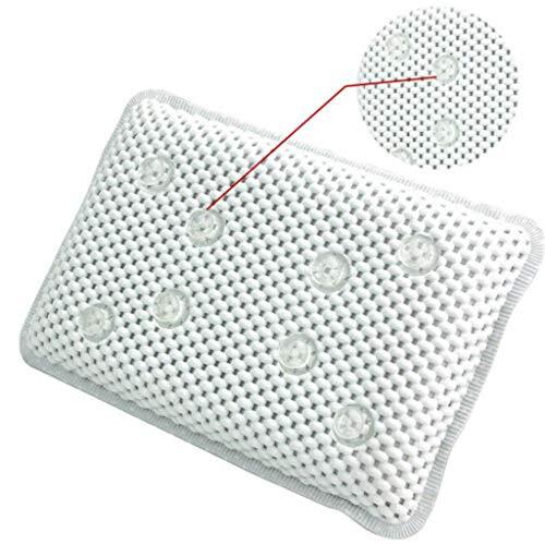 TichanPVC発泡海綿浴槽枕ラグジュアリーバススパピロークッション付きスポンジリラックスバスタブクッション8サクションカップ