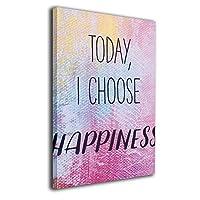 Skydoor J パネル ポスターフレーム Quote Today I Choose Happiness インテリア アートフレーム 額 モダン 壁掛けポスタ アート 壁アート 壁掛け絵画 装飾画 かべ飾り 30×20
