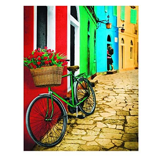 (40X50CM) Kits de Pintura de Diamante Cuadrado Bicicleta DIY