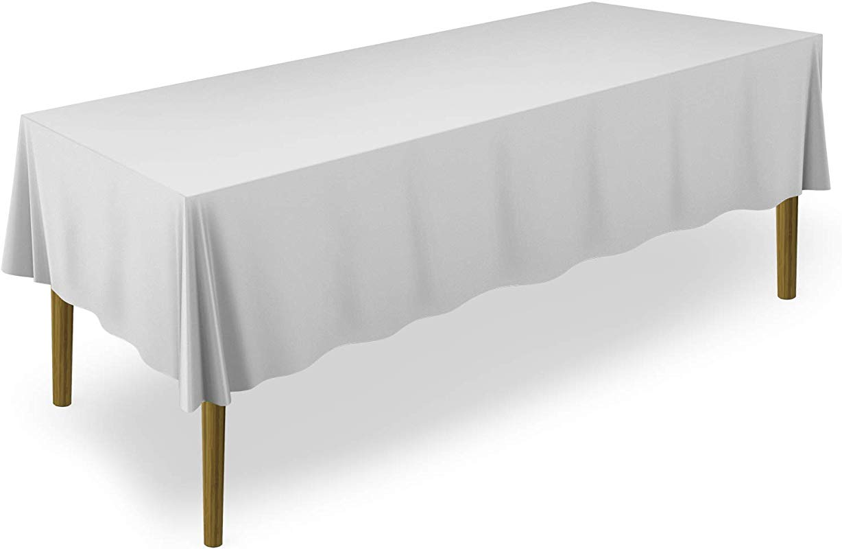 Lann S Linens 60 X 102 Premium Tablecloth For Wedding Banquet Restaurant Rectangular Polyester Fabric Table Cloth Silver