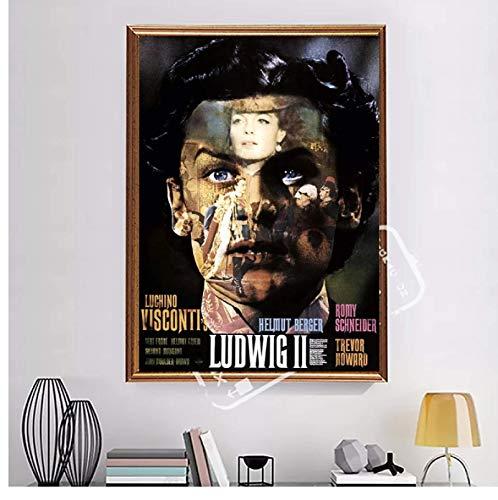 sunhanxu Ludwig 1973 Luchino Visconti Vintage Italia Película Francesa Película Arte de...