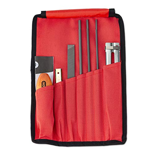 Oregon Chainsaw Field Sharpening Kit - Includes 5/32, 3/16, and 7/32 Inch Round Files, Flat File, Handle, Filing Guide, and Pouch