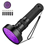<span class='highlight'><span class='highlight'>Coquimbo</span></span> UV Torch 100 LED, Black Light UV Flashlight Ultraviolet Torch Pet Urine Stain Detector, Super Bright Blacklight Detector for Pet Stains, Bed Bug, Carpet, Floor (6 x AA Batteries Included)