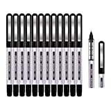 Rollerball Pen, Surcotto 0.5mm Black Gel Pens Smooth Ballpoint Pen Quick-Drying Liquid Ink Rollerball Pens -...