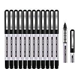Tintenroller Stifte schwarz, Surcotto 0,5mm Gelschreiber, glatter Kugelschreiber, schnelltrocknend,...