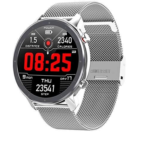 L11 Smart Watch Männer Frauen Vollrunder Touchscreen EKG Herzfrequenz Wetteranzeige Ip68 Smartwatch Android Ios Silber Silber Metall