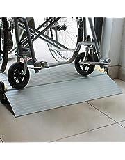 JLXJ Rampas Aluminio Entrada Rampa de Entrada para sillas de Ruedas, Umbral de transición, Escalera, Pasos, Rampas Antideslizantes portátiles (Size : 134×74cm/53×29in)