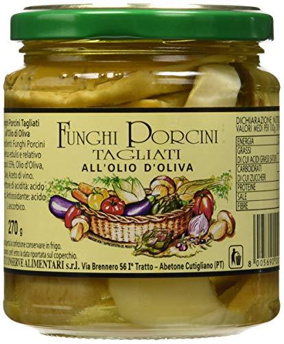 Nesti Conserve Alimentari Funghi Porcini Tagliati all' Olio di Oliva - Pacco da 6 X 270 g
