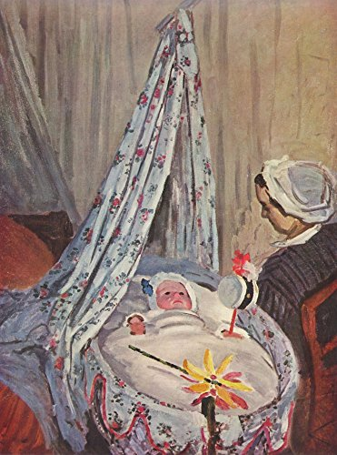 The Museum Outlet – Jean Monet in the Cradle by Monet – Poster (61 x 81,3 cm)