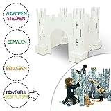 Brixii Burg für Kinder zum Bemalen und Bekleben aus Pappkarton | Stecksystem | Karton bemalbar...