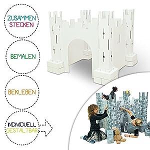 brixii Burg para niños para pintar y puertas de cartón cartón   Sistema ranuras   bemalbar beklebbar plegable y fácil de guardar   el producto original de la TV Powered By Media Shop