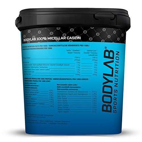 Bodylab24 Casein 100 % Mizellar Vanille, 1er Pack (1 x 2000 g) - 2